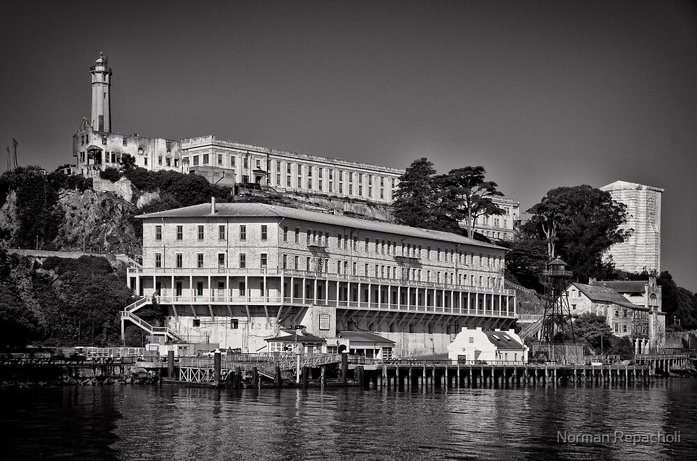 Alcatraz island and Federal Penitentiary by Norman Repacholi