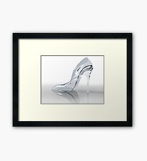 Glass slipper Framed Print