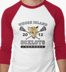 Go Ocelots! (Black Fill) Men's Baseball ¾ T-Shirt
