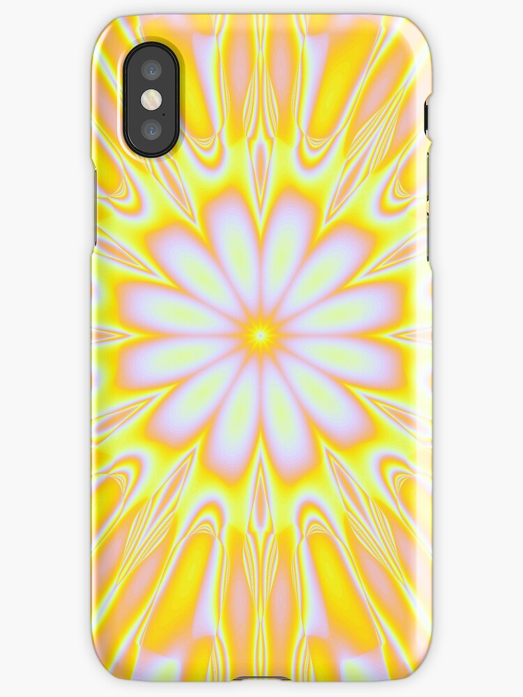 Sunny Floral iphone case by Elaine Manley