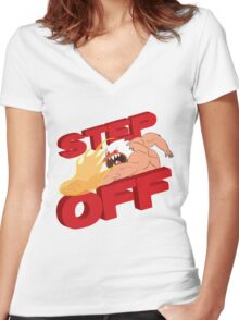 STEP OFF Women's Fitted V-Neck T-Shirt