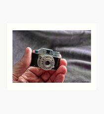 Camera in Hand Art Print