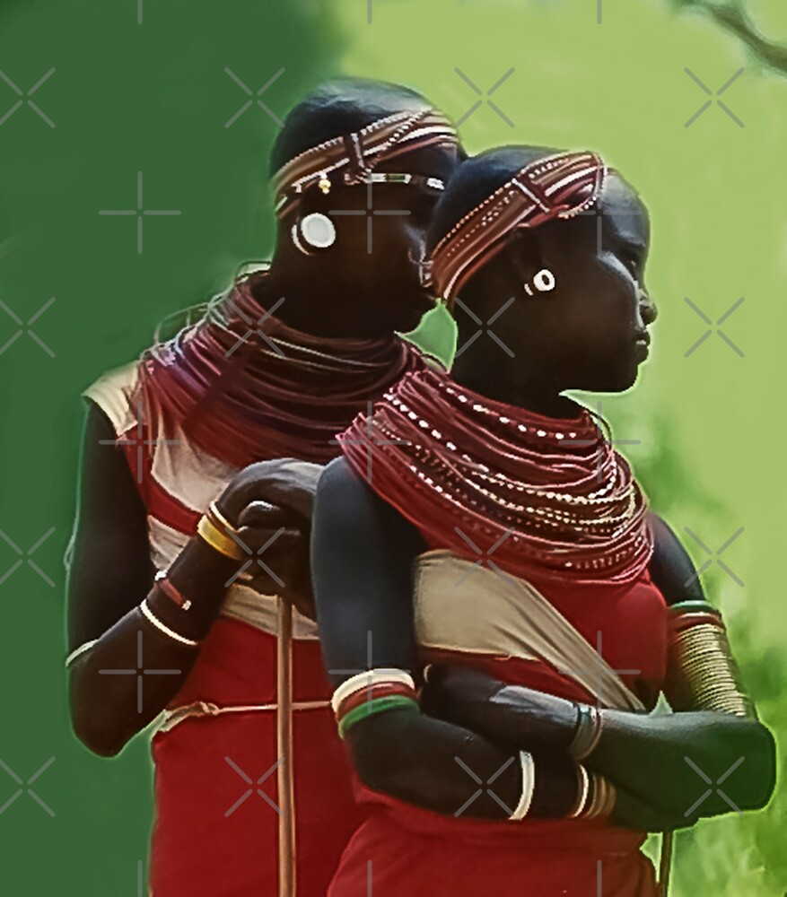 Portrait of Samburu Girls II by Heather Friedman