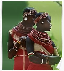 Portrait of Samburu Girls II Poster