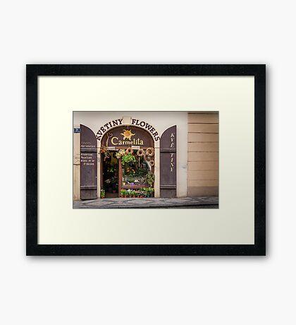 Praha: The Flower Shop Framed Print
