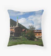 Houses in Uzungöl. Throw Pillow