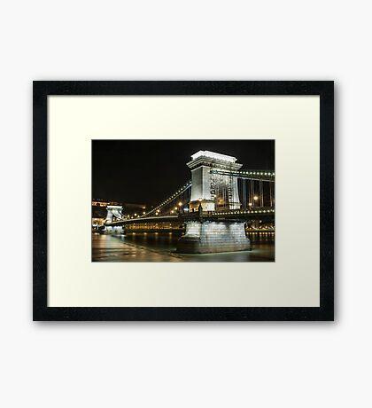 Budapest at Night Framed Print