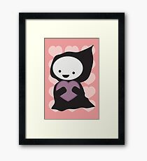 Grim Reaper with Heart Framed Print