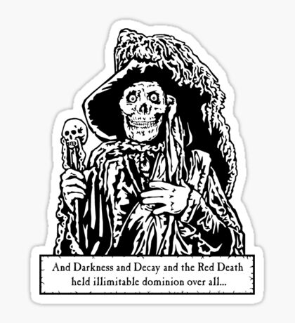 The Red Death (Full Print)  Sticker