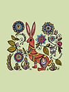 Folk Rabbit by Kayleigh Walmsley