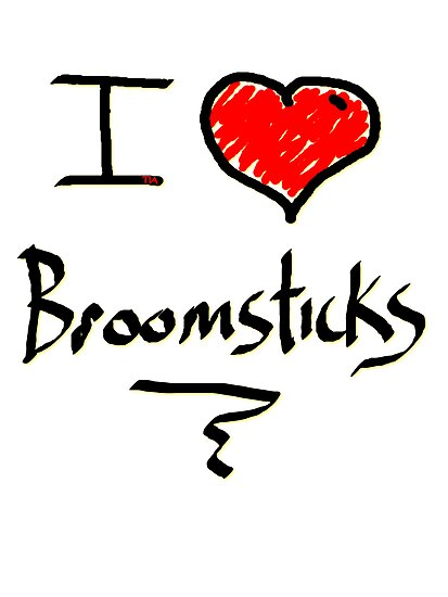 I love Halloween Broomsticks  Witches  by Tia Knight