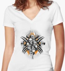 Choke Hold Women's Fitted V-Neck T-Shirt