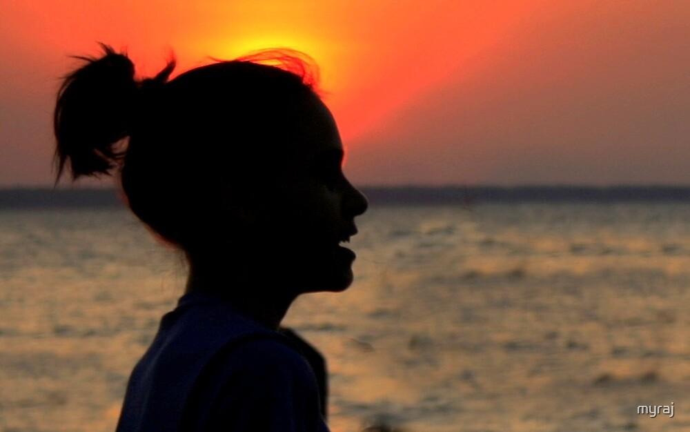 Wispy hair at Sunset by myraj