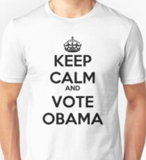 Keep Calm and Vote Obama Unisex T-Shirt