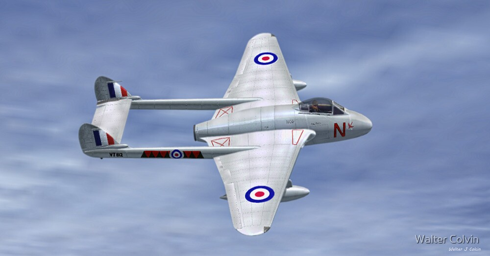 De Havilland  Vampire by Walter Colvin