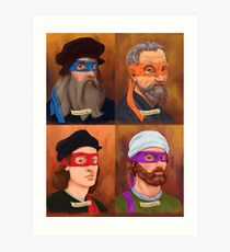 Die Renaissance Ninja Künstler Kunstdruck