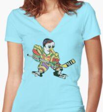 D-5 Ducks Women's Fitted V-Neck T-Shirt