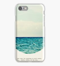 salt water cure iPhone Case/Skin