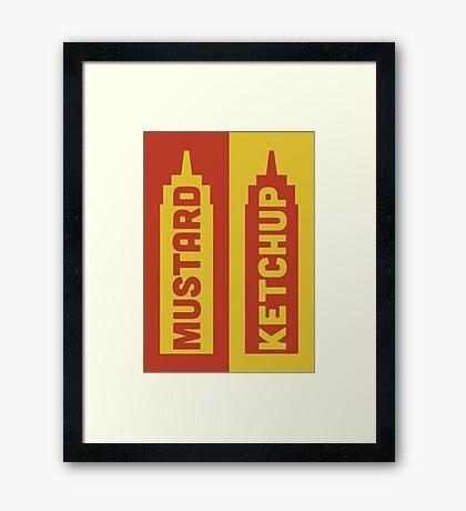 Ketchup, Mustard Framed Print