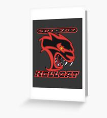 Hellcat - Red & Black Greeting Card