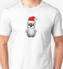 Baby Penguin Wearing a Santa Hat  Unisex T-Shirt