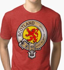 Scotland Lion Rampant Crest Tri-blend T-Shirt