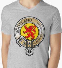 Scotland Lion Rampant Crest Men's V-Neck T-Shirt