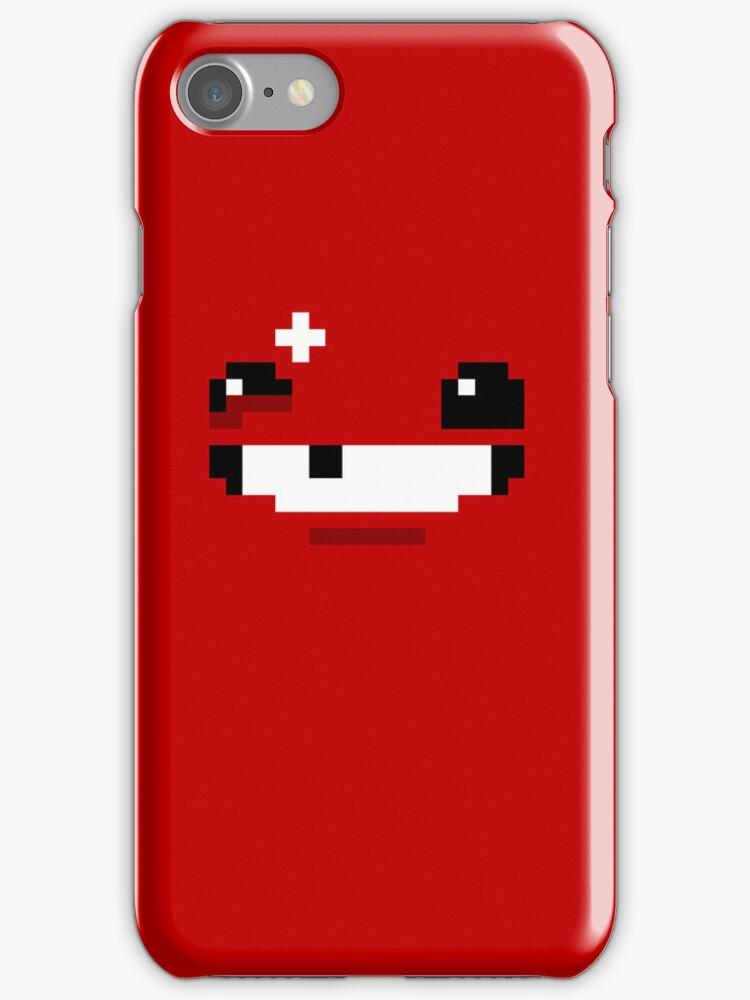 Super Meat Boy Face Pixels by andersonOllie