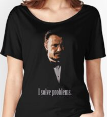Mr. Wolf. Problem Solver. Women's Relaxed Fit T-Shirt