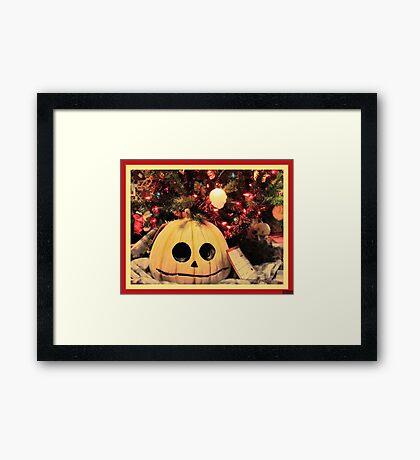 Twist on Christmas Framed Print