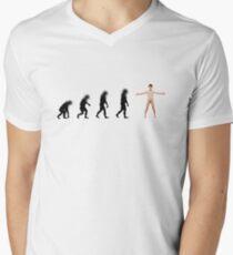 99 Steps of Progress - Facebook Men's V-Neck T-Shirt
