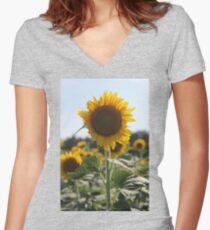 South Carolina Sunflower Women's Fitted V-Neck T-Shirt