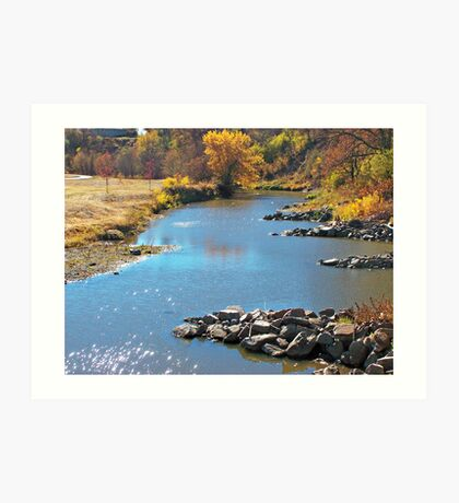 Autumn at Skunk Creek Art Print