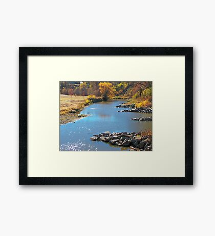 Autumn at Skunk Creek Framed Print