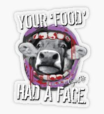VeganChic ~ Your Food Had A Face Transparent Sticker