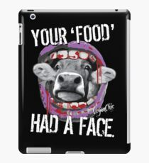 VeganChic ~ Your Food Had A Face iPad Case/Skin