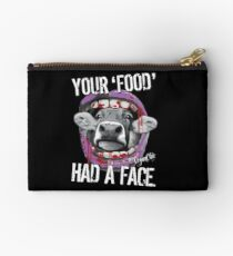 VeganChic ~ Your Food Had A Face Zipper Pouch