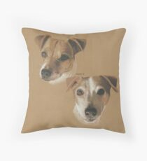 Lady and Bailey, Jack Russells Throw Pillow