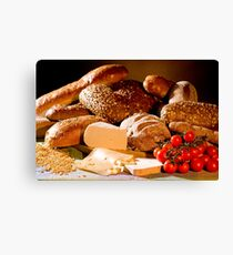 Bread And Cheese Canvas Print