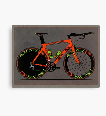 Time Trial Bike Canvas Print