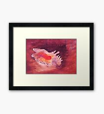 Conch shell, watercolor Framed Print