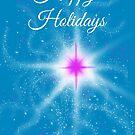 Happy Holidays Pink Star by Lynne Goodman
