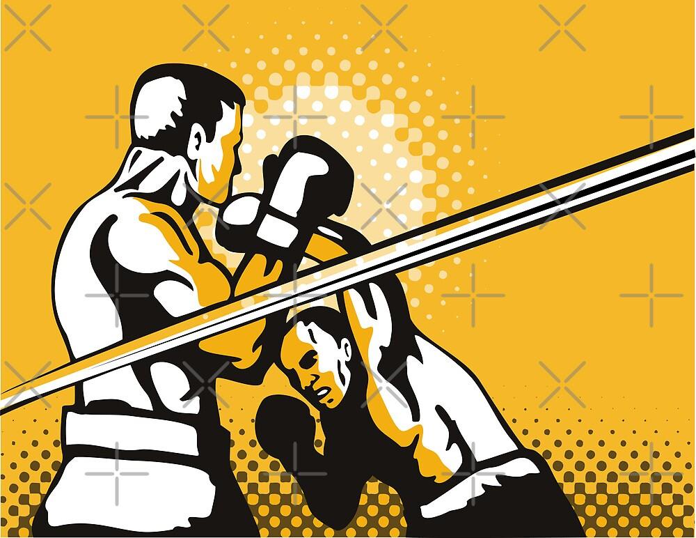 Boxer Boxing Knockout Punch Retro by patrimonio