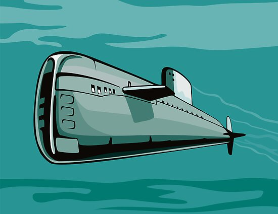 Submarine Boat Retro by patrimonio
