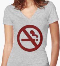 Marceline: No Smoking Shirt Women's Fitted V-Neck T-Shirt