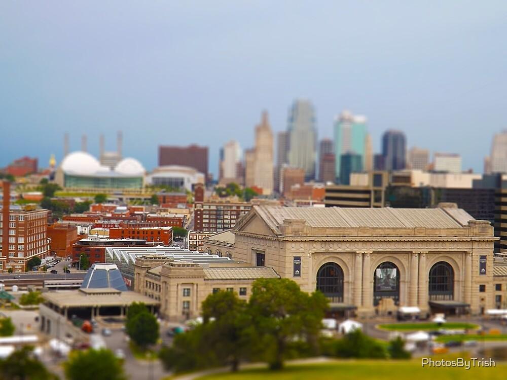 Union Station, Downtown Sky Scrapers, Kansas City Tilt Shift, Color by PhotosByTrish