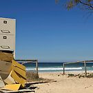 Falling Filing - A Sculpture on the Beach at Currumbin by Sea-Change