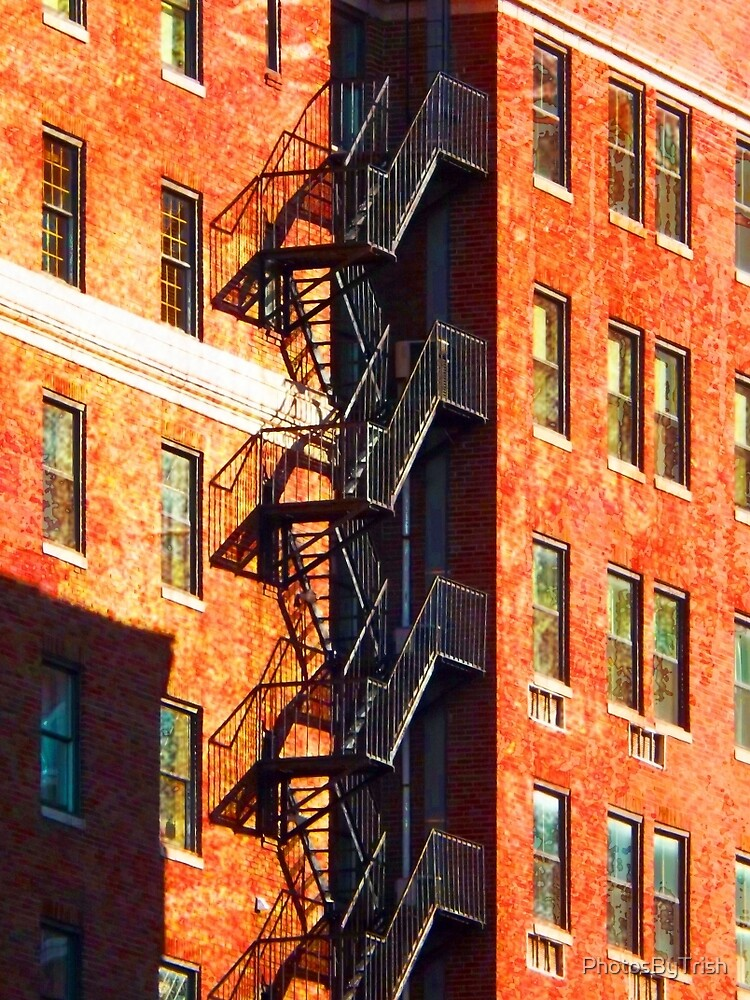 Tall Buildings with Fire Escape by PhotosByTrish