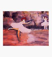 Ballerinias, watercolor Photographic Print