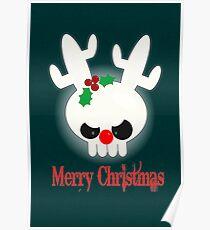 Reindeer of Doom Christmas Greetings Poster
